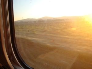 lever de soleil, au calme, en TGV, super la grève !!!